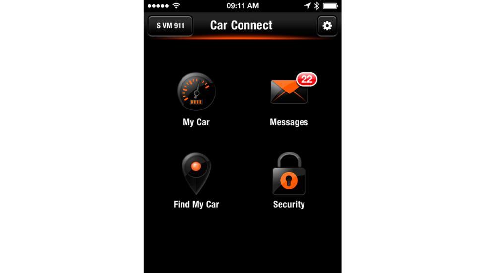 Porsche Car Connect menú