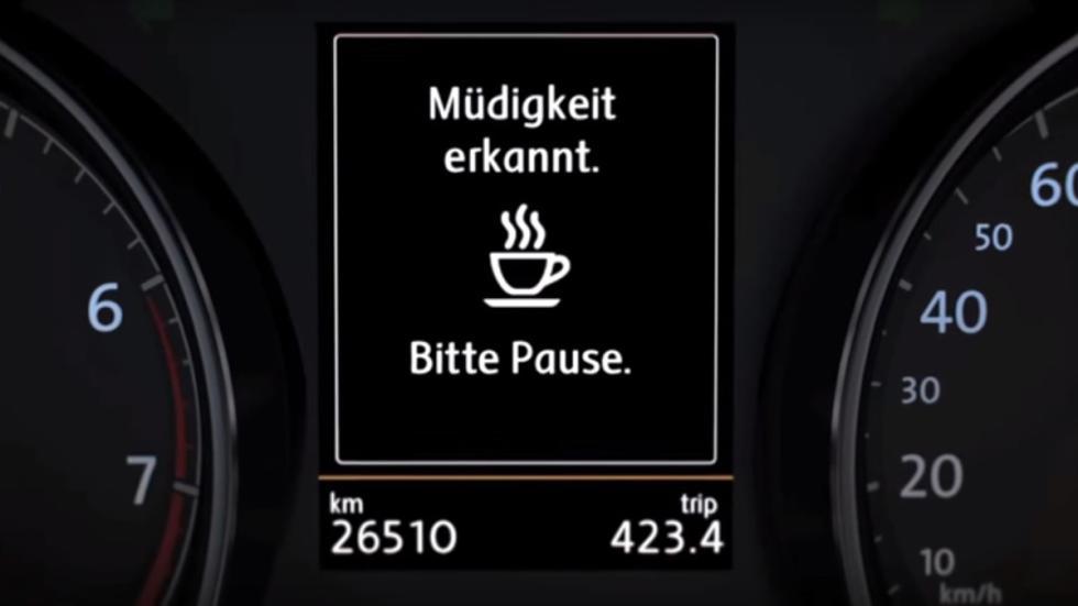 Volkswagen asistente para la detección de fatiga