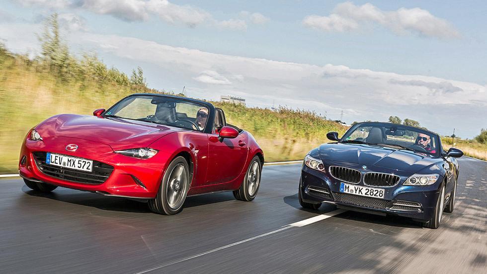 Duelo de diversión al volante: nuevo Mazda MX-5 vs BMW Z4