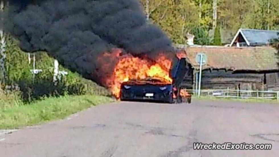 incendio lamborghini aventador dahlback