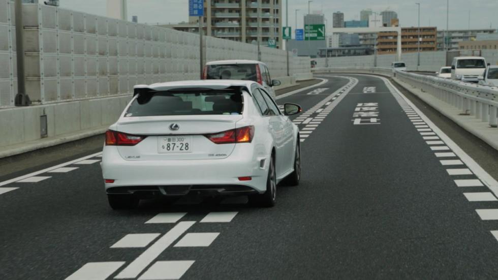 Lexus GS conduccion autonoma trasera