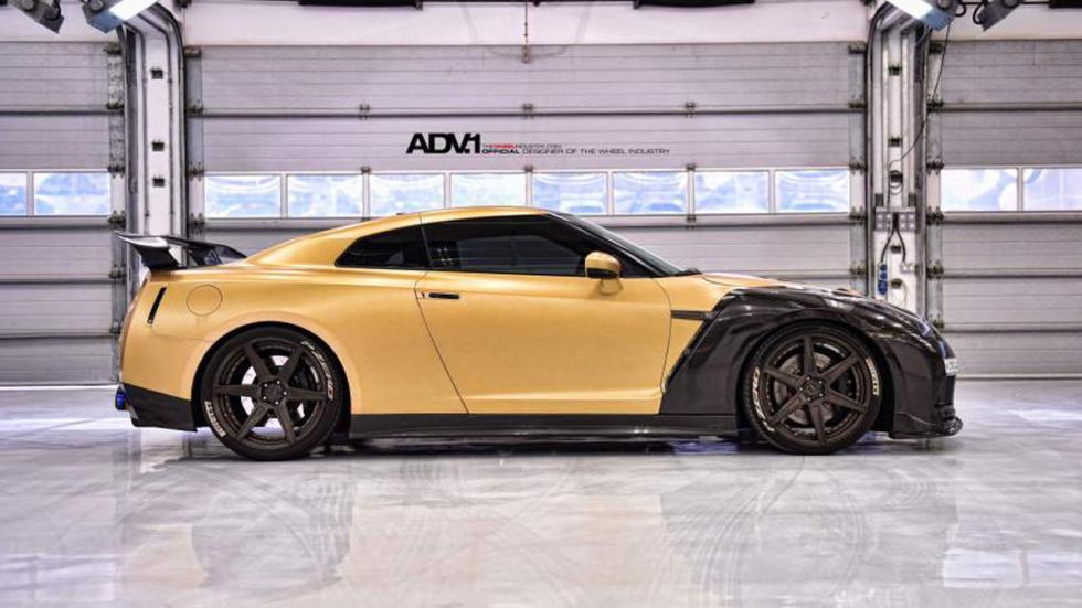 Nissan GT-R ADV-1 dorado lateral AMS