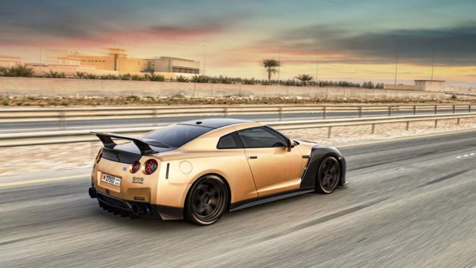 Nissan GT-R ADV-1 dorado trasera AMS