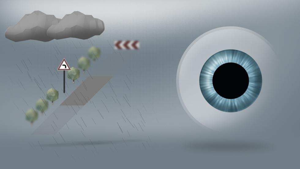 DriveSafe: pupila dilatada con iluminación mesópica