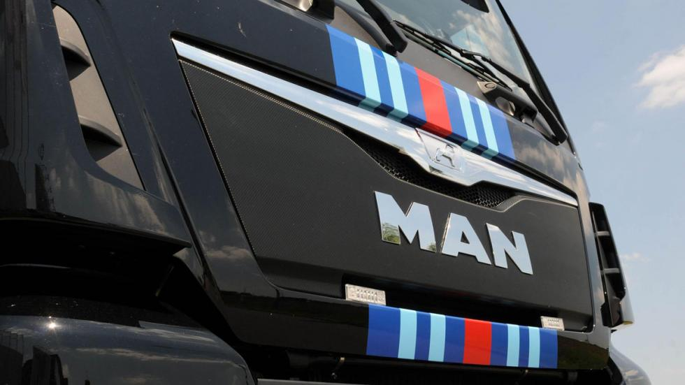 Camion MAN Porsche martini