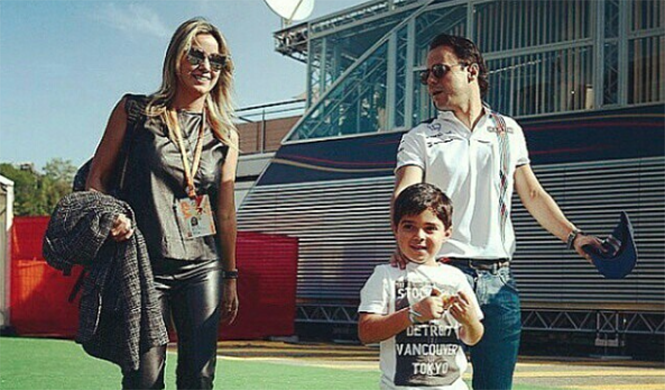 Felipe Massa y Rafaela Bassi