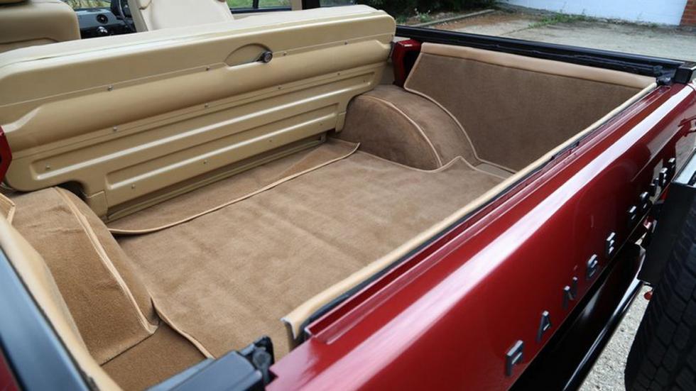 Range Rover 1973 Cabriolet maletero