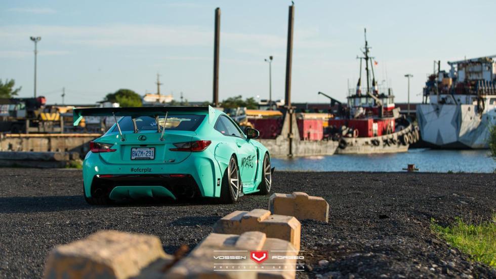 Lexus RC-F Rocket Bunny Vossen trasera