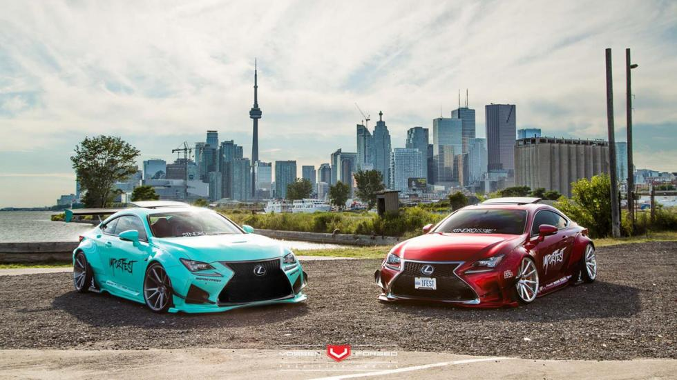 Lexus RC-F Rocket Bunny Vossen frontal RC
