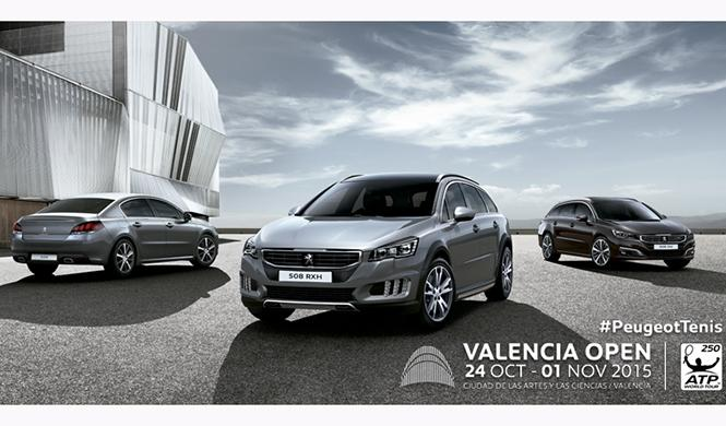Peugeot vehículo oficial del Valencia Open
