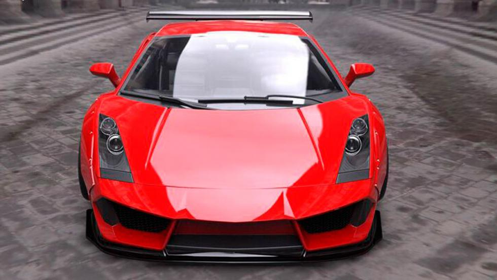 Lamborghini Gallardo Liberty Walk frontal