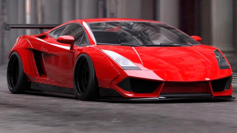 Lamborghini Gallardo Liberty Walk tres cuartos delanteros