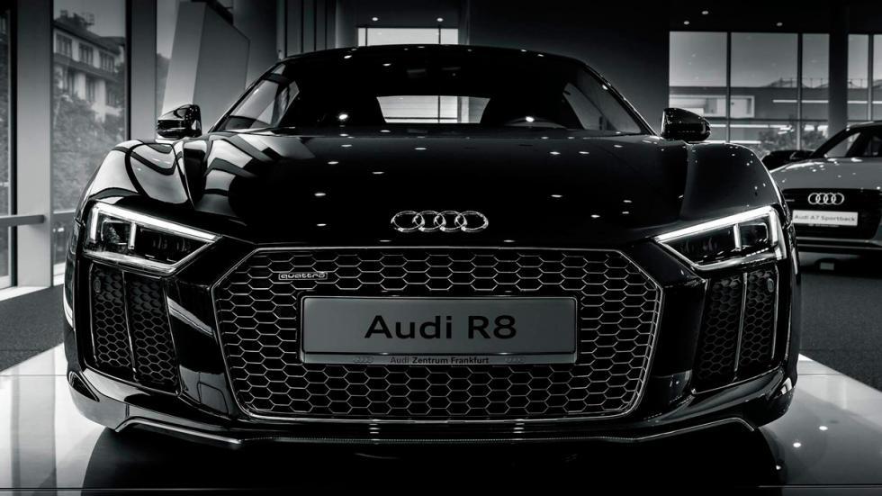 Audi R8 V10 negro frontal