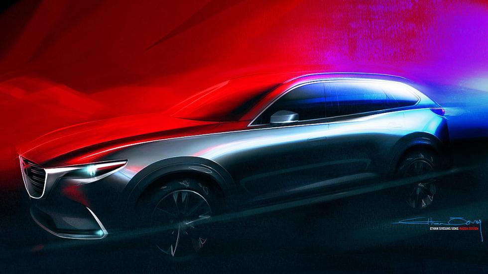Mazda CX-9. La segunda generación del crossover llevará la última tecnología Sky