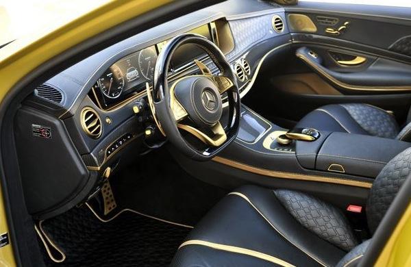 En el interior hay más de 300 partes doradas