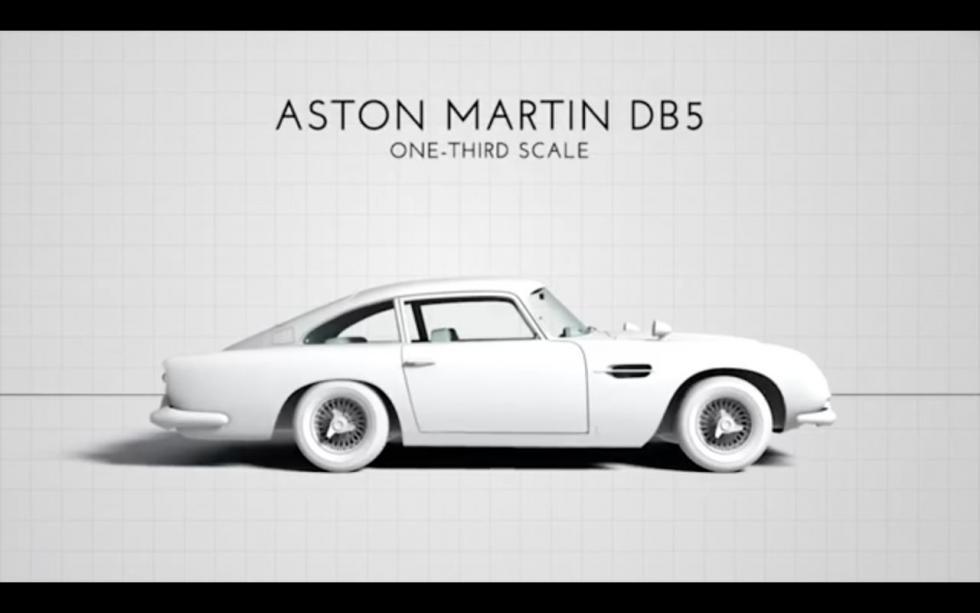 Aston Martin DB5 James Bond a escala 2