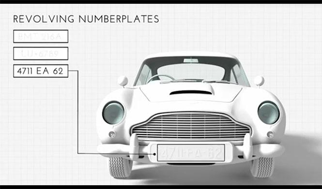 Aston Martin DB5 James Bond a escala 6