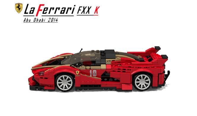 Ferrari LaFerrari FXX K Lego 5