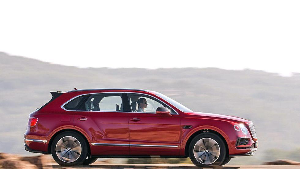Prueba del Bentley Bentayga. Lujo x 4 lateral