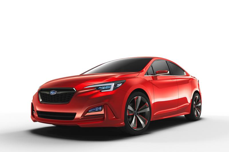 Subaru Impreza Sedan concept tres cuartos delanteros