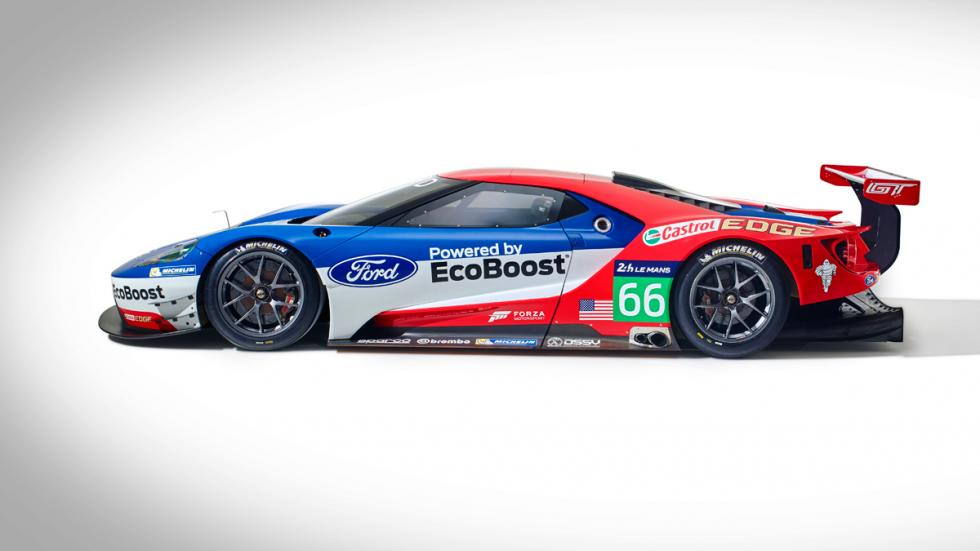 Ford GT GTE lateral completo