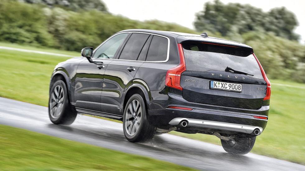 Comparativa SUV lujo Volvo XC90 trasera