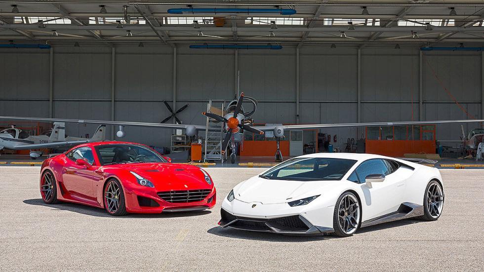 Novitec Ferrari California vs Novitec Lamborghini Huracán parados