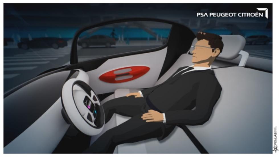 conductor coche autónomo PSA