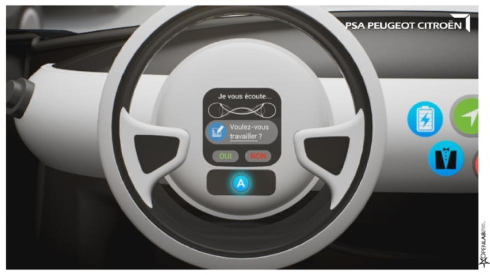 volante coche autónomo de PSA
