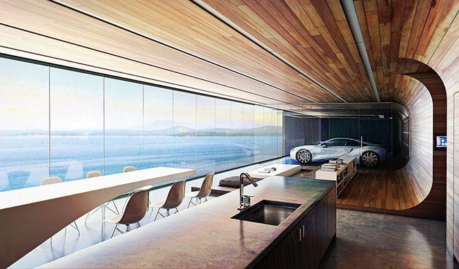 casa con garaje con vistas al mar 4