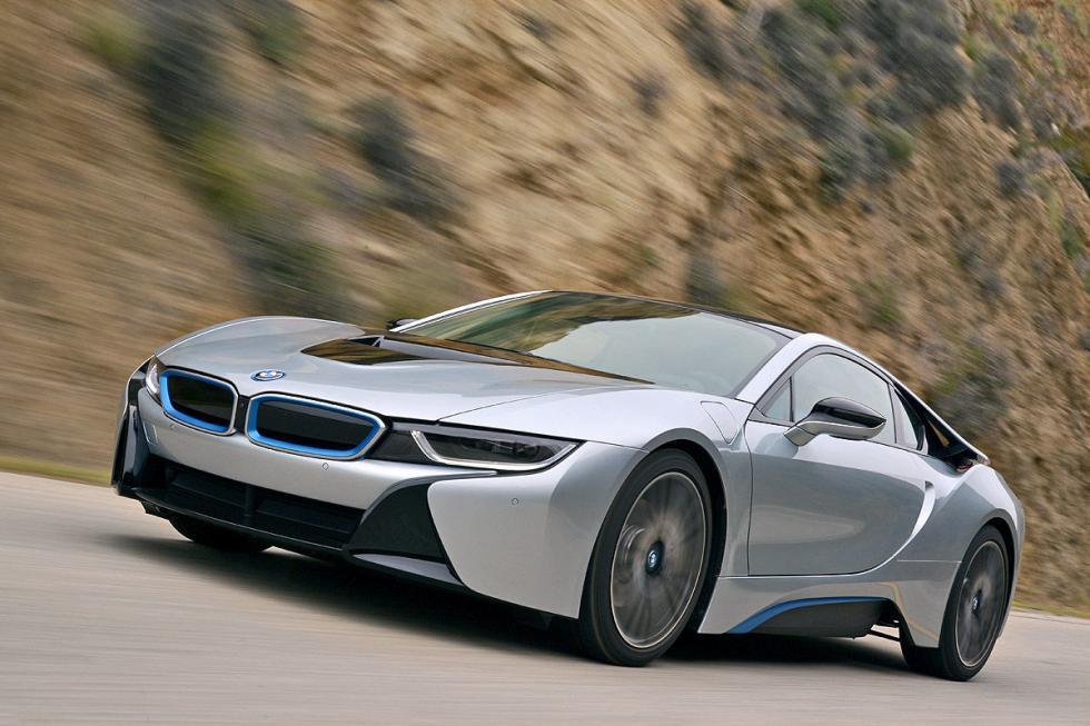 BMW i8 tres cuartos delanteros