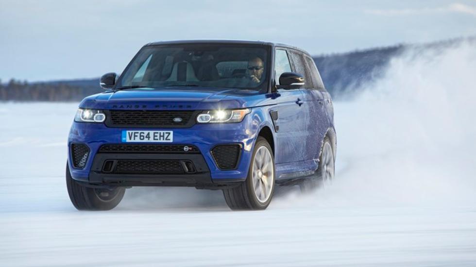 Range Rover Sport SVR sobre hielo 2