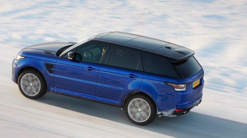 Range Rover Sport SVR sobre hielo 5