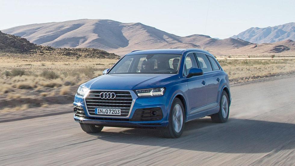 Prueba: Audi Q7 2015 carretera 3 cuartos