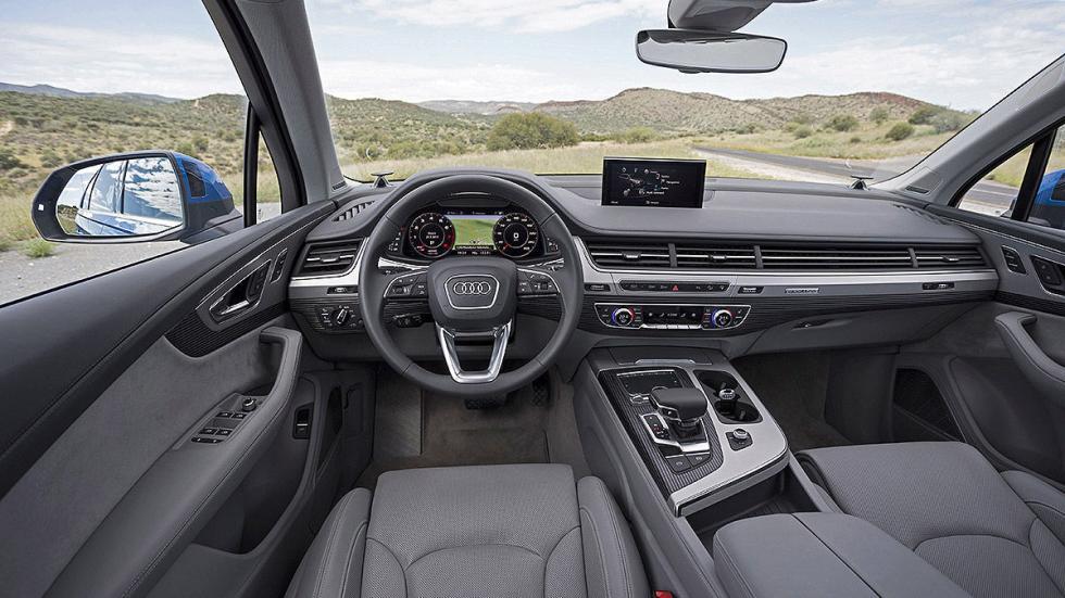 Prueba: Audi Q7 2015 desierto estática interior