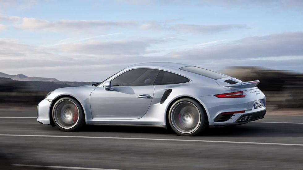 Porsche 911 Turbo 2016 plata lateral