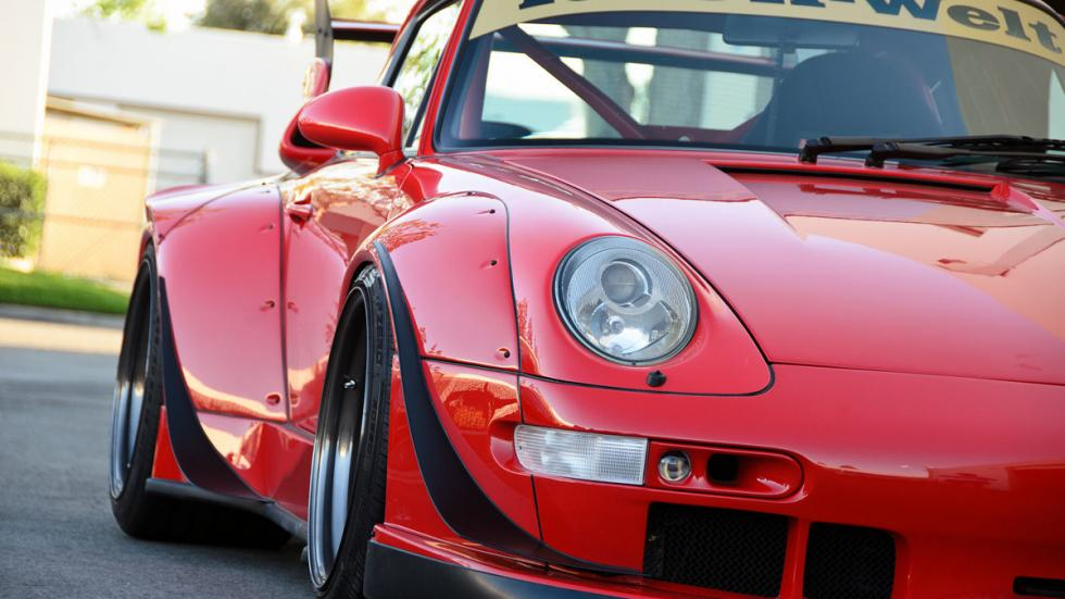 Porsche 993 de Rauh Welt Begriff primer plano
