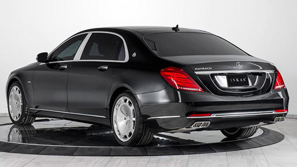 Mercedes-Maybach S 600 blindado trasera