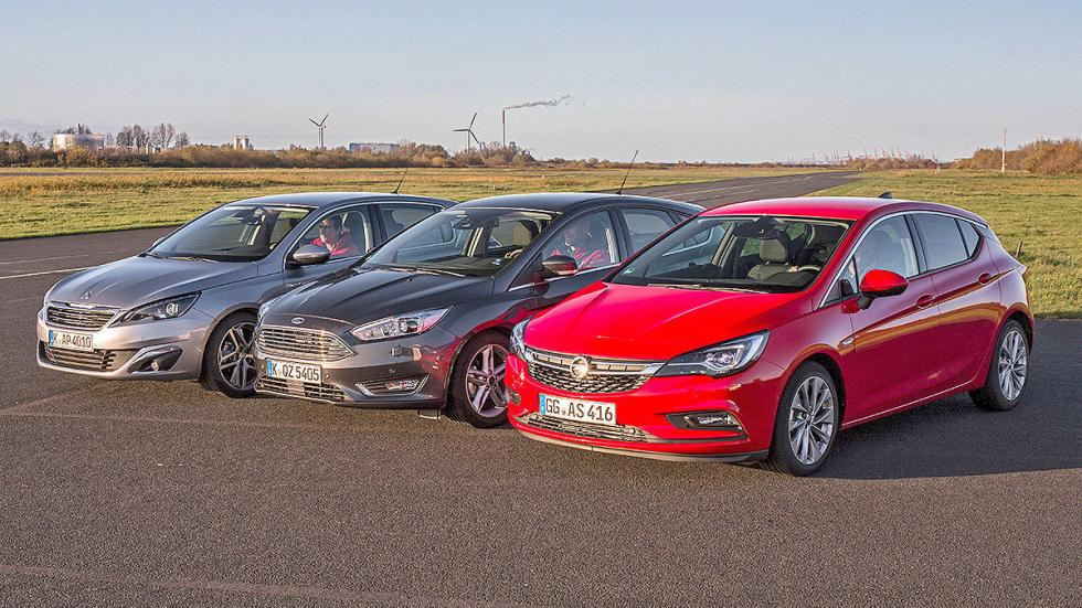 Comparativa 3 cilindros: Opel Astra/Ford Focus/Peugeot 308 morros