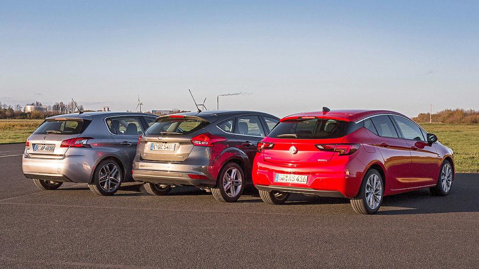 Comparativa 3 cilindros: Opel Astra/Ford Focus/Peugeot 308 zagas