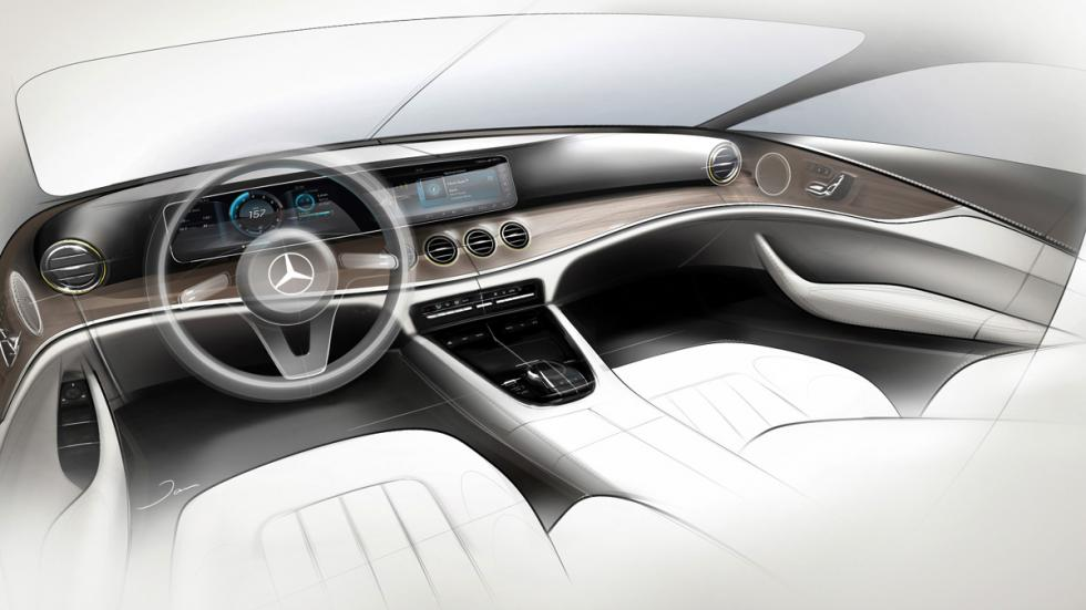 Mercedes Clase E 2016 interior bocetos