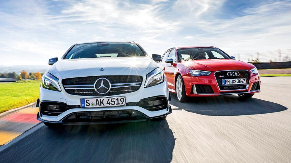 Cara a cara: Mercedes AMG A45 vs. Audi RS 3. Rabia compacta