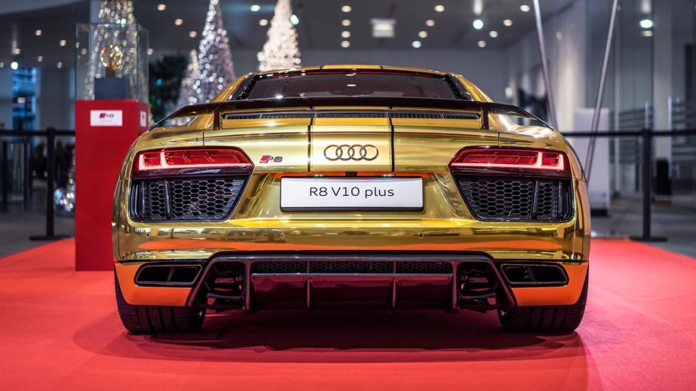 Audi R8 V10 2015 oro trasera vinilo
