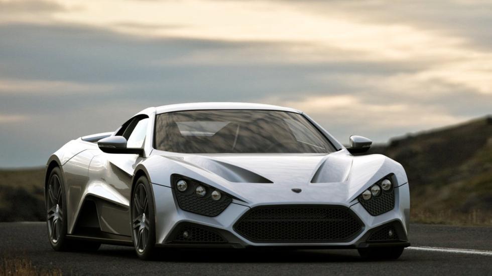 deportivos malos circuito Zenvo ST1 frontal