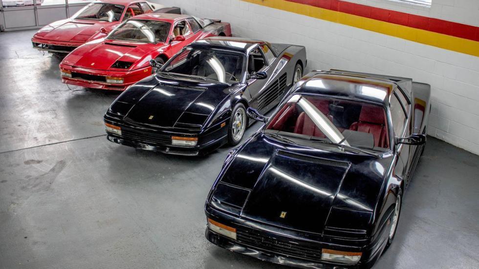 Cuatro Ferrari Testarossa restaurar