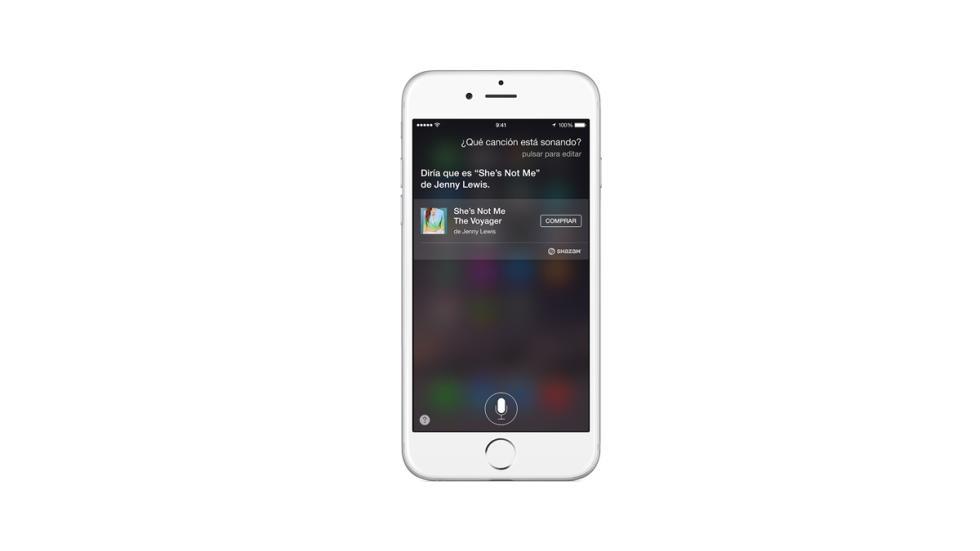 Funciones Siri reconocer canciones
