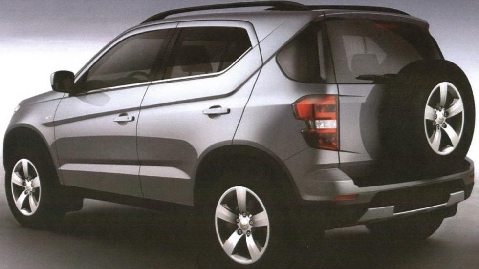 Chevrolet Niva trasera