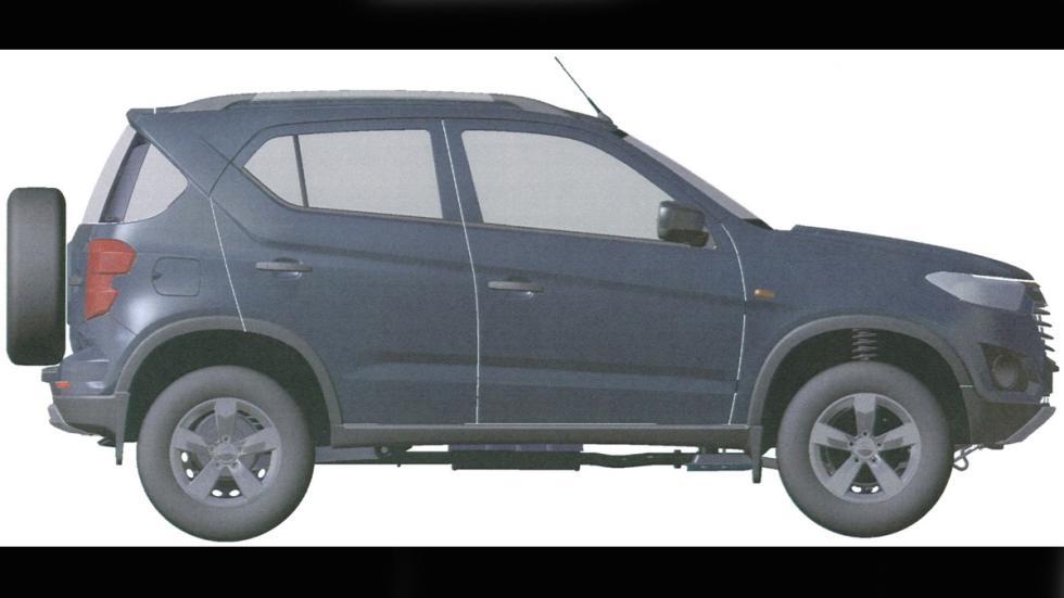Chevrolet Niva patente lateral