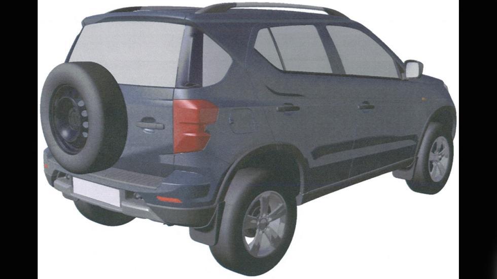Chevrolet Niva patente trasera