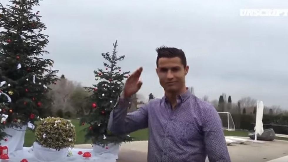 cristiano ronaldo felices fiestas